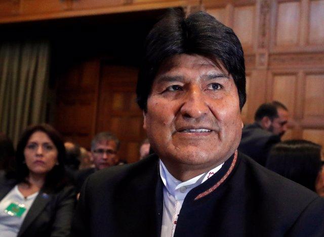 Evo Morales asiste a la lectura del fallo de la CIJ