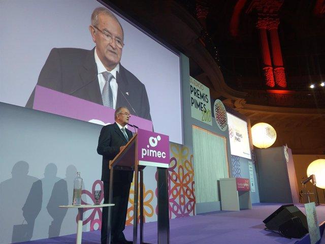 El president de Pimec, Josep González, en els Premis Pimes