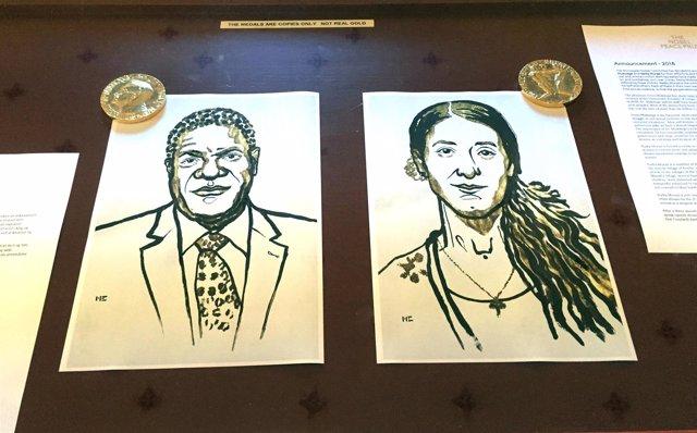 Denis Mukwege y Nadia Murad, ganadores del Nobel de la Paz