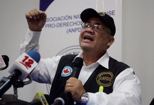 El activista y defensor de los DDHH nicaragüense Álvaro Leiva.