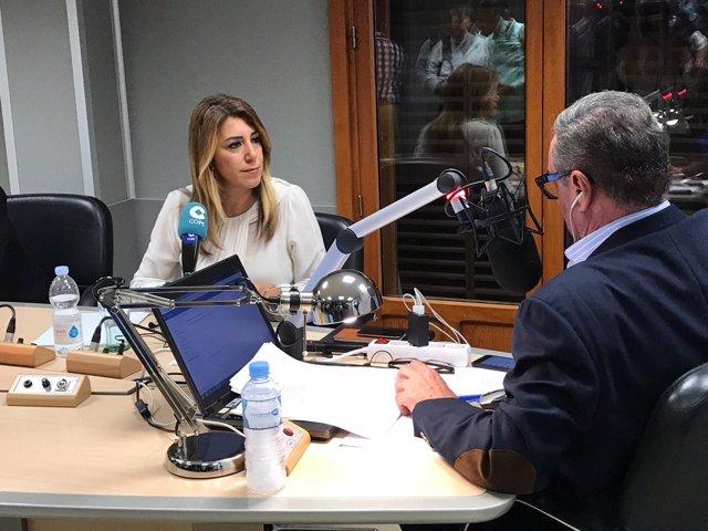 Susana Díaz entrevistada en la cadena Cope