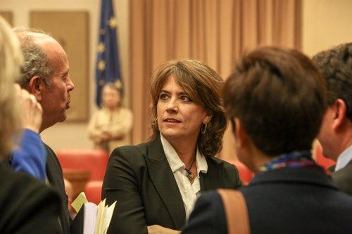 La ministra de Justicia, Dolores Delgado, comparece en la Comisión de Justicia d