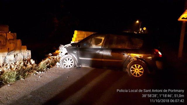 Accidente de tráfico en Sant Antoni de Portmany