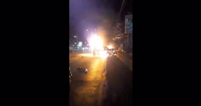 Accidente provocado, presuntamente, por el diputado de Morena, Cirpriano Charro