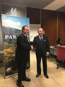 Isaac Pola (Consejero de Empleo) y Pablo Junceda (SabadellHerrero)