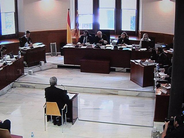 Narcís Serra en su declaración en la Audiencia