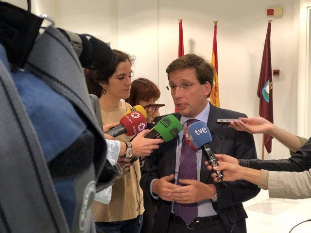 El portavoz del PP en el Ayuntamiento de Madrid, José Luis Martínez Almeida