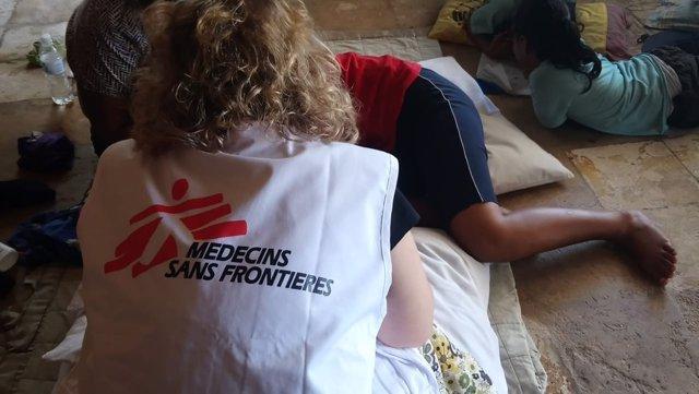 Una trabajadora del equipo de salud mental de MSF en Nauru