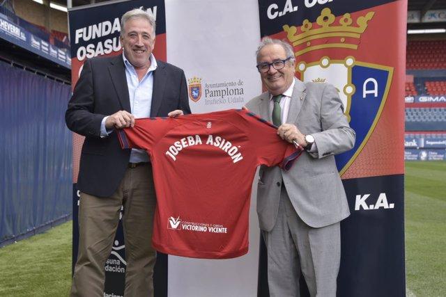 Joseba Asiron y Luis Sabalza