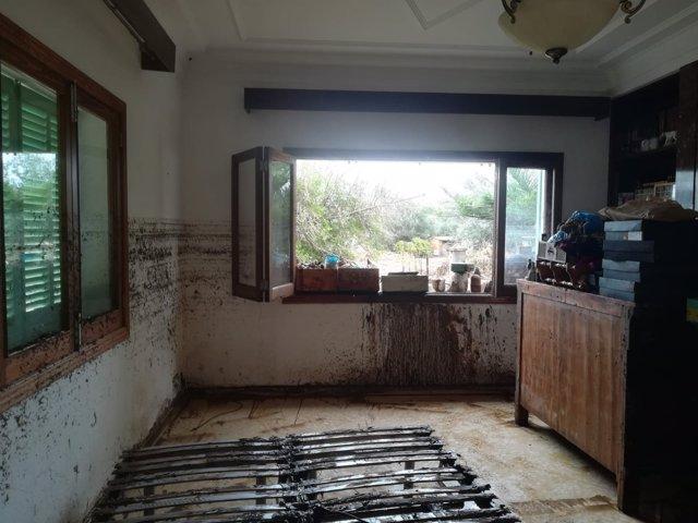 Destrozos en una casa de Sant Llorenç des Cardassar