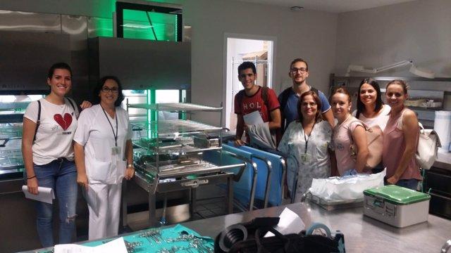 Almunos de prácticas en hospitales de Campo de Gibraltar