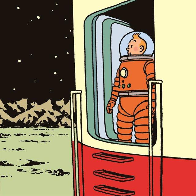 'Aterrizaje En La Luna' De Hergé