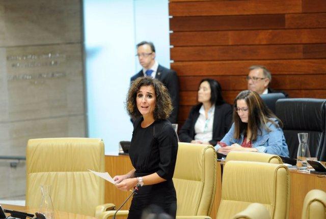 La consejera de Economía e Infraestructuras, Olga García