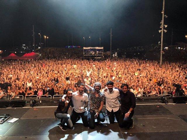 El grupo IZAL en un concierto en Barcelona