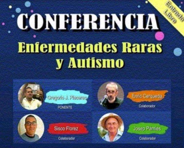 Cartel de evento pseudocientífico 'Enfermedades Raras y Autismo'