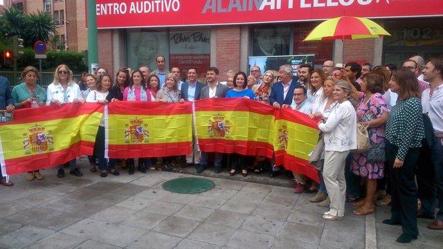 Acto del PP para promocionar la bandera de España