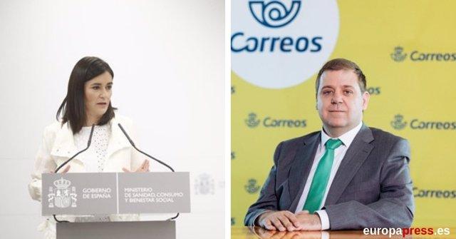 Carmen Montón y el presidente de Correos