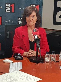 Carmen Calvo, vicepresidenta del Gobierno, en Rac1