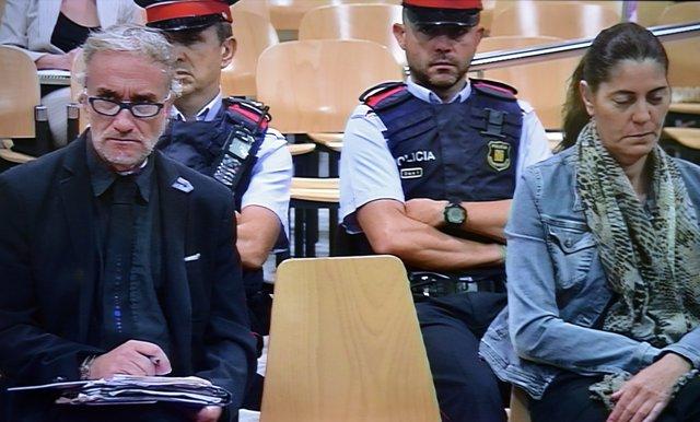 Fernando Blanco i Marga Garau, pares de la menor Nadia, en el judici