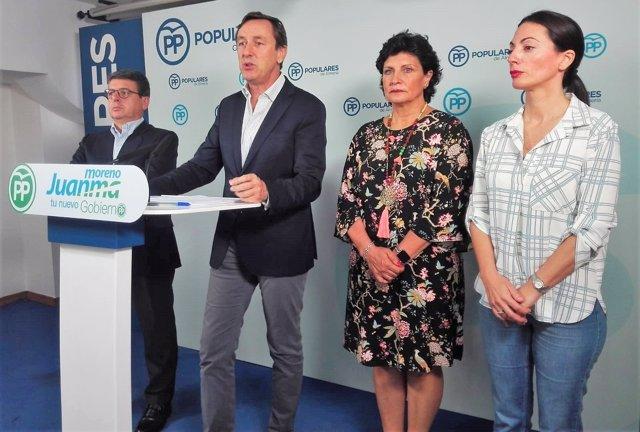 Rafael Hernando (PP) en rueda de prensa
