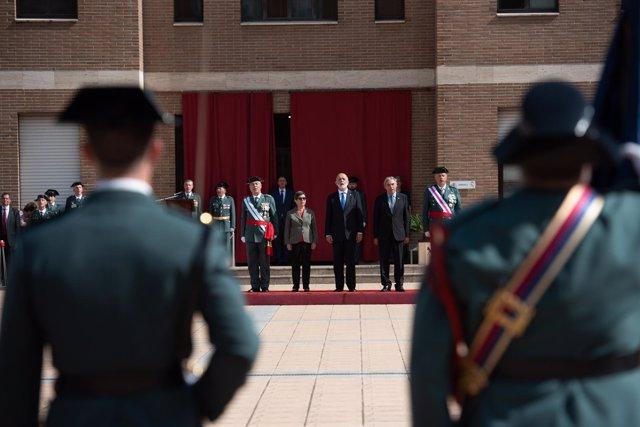 El director general de la Guardia Civil, Felix Azón, preside los actos de celebr