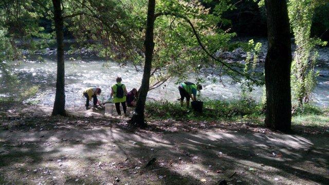 Campaña anterior en el río Arga.