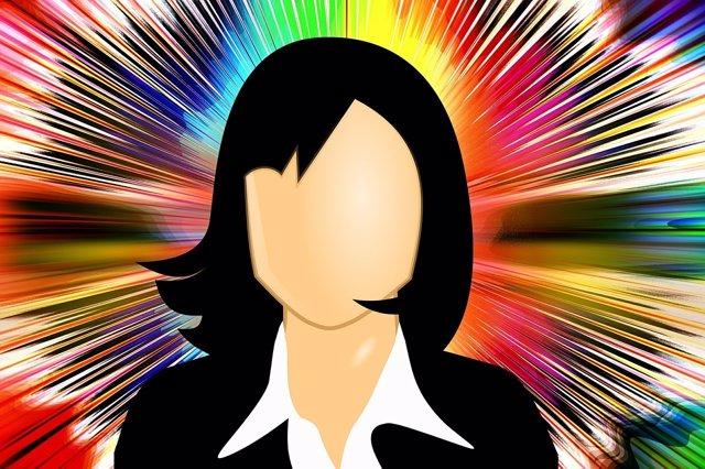 Mujer ejecutiva trabajando trabajo género