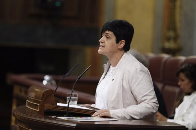 Beitialarrangoitia durante su intervención en el debate de la moción de censura