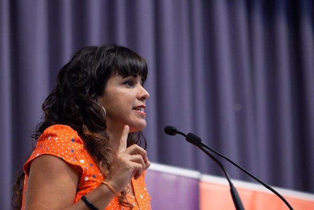 En Sevilla, la coordinadora general de Podemos Andalucía, Teresa Rodríguez