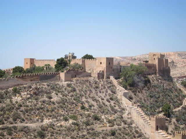 La Alcazaba de Almería vista desde el cerro de San Cristóbal