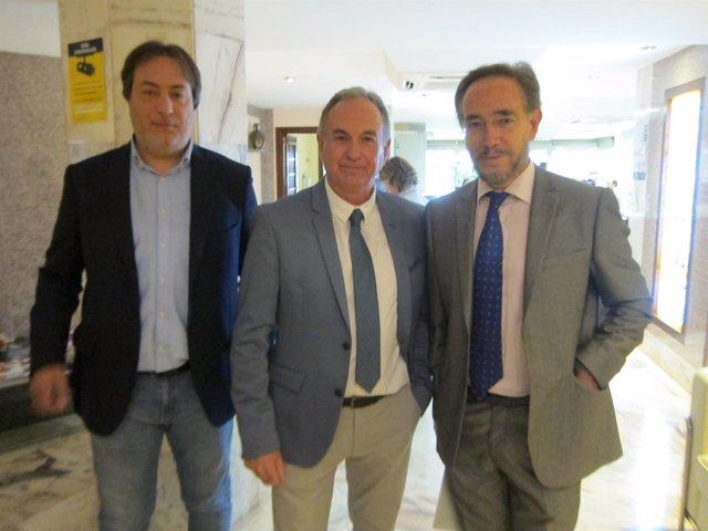 López con el Consejo andaluz de Aparejadores
