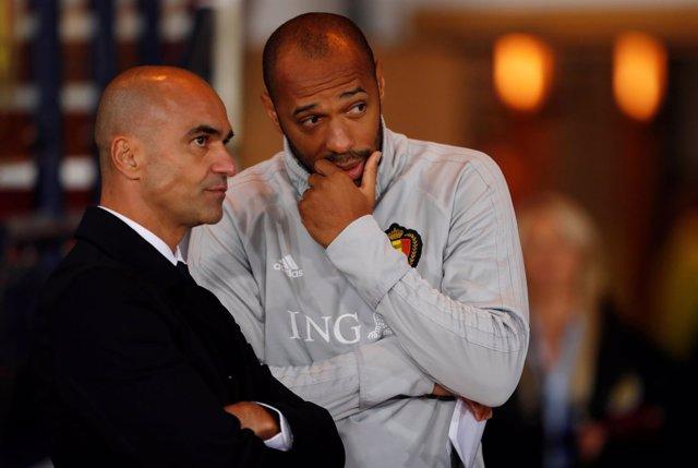 Roberto Martínez y Thierry Henry al frente de la selección belga