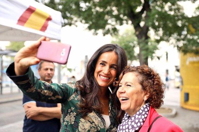 La portavoz de Cs en el Ayuntamiento Begoña Villacís durante un acto