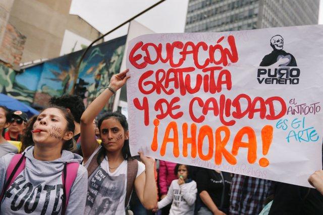 Marchas por la educación en Colombia.