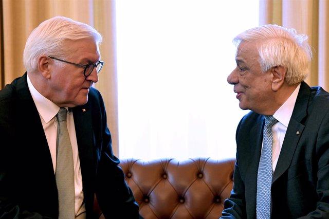 Prokopis Pavlopoulos y Frank-Walter Steinmeier