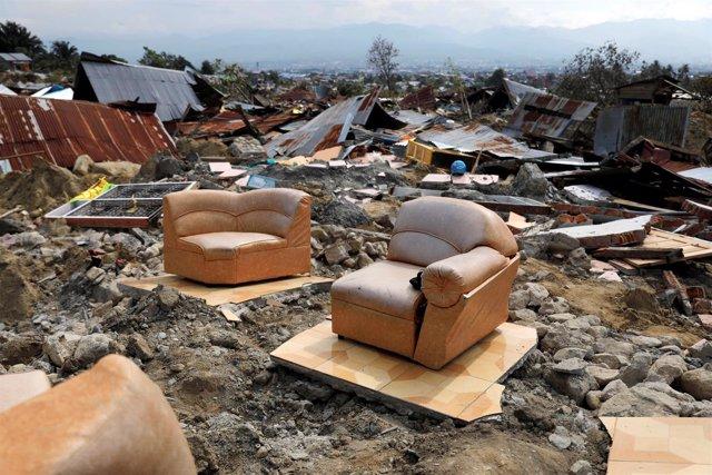 Destrucción provocada por el terremoto y el tsunami en Palu