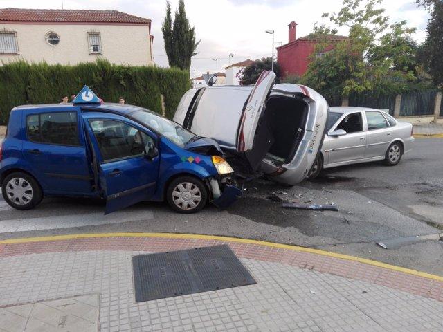 Accidente de tráfico en Dos Hermanas (Sevilla)