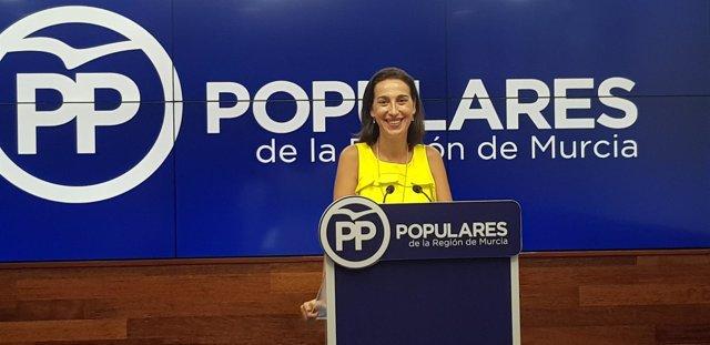 La portavoz del Partido Popular de la Región de Murcia, Nuria Fuentes