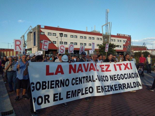 Manifestación de los trabajadores de La Naval (archivo)