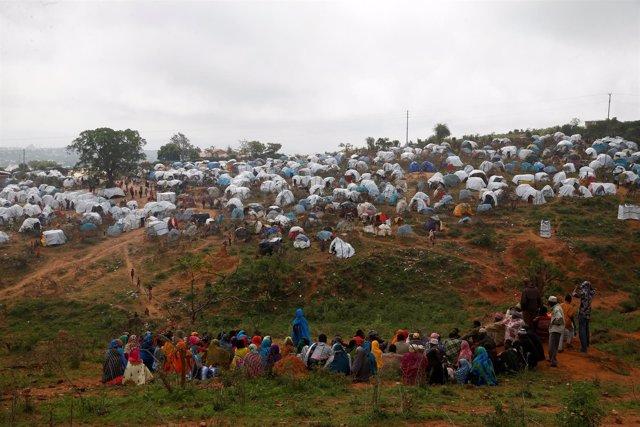 Solicitantes de asilo de Etiopía en un campamento de refugiados en Kenia