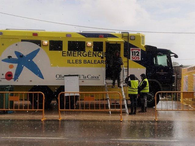 El servicio de emergencias en el puesto de mando en Sant Llorenç
