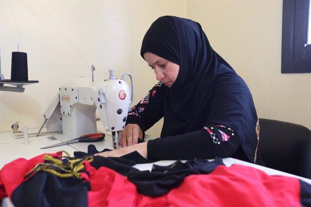 La refugiada siria Hana al Alí