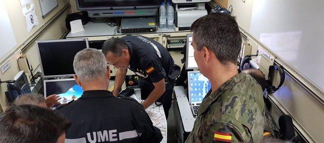 Efectivos de la UME en el operativo de búsqueda en Sant Llorenç