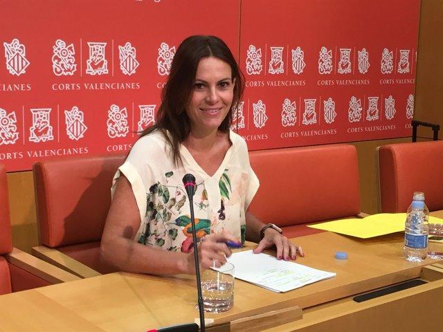 Gascó, en la sala de prensa de Les Corts