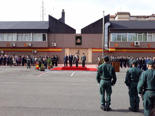 Jesús Loza preside en Vitoria el acto de la Patrona de la Guardia Civil