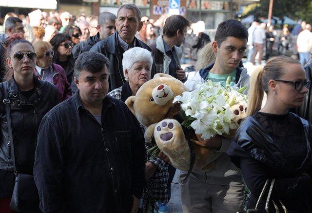 Funeral por la periodista búlgara Viktoria Marinova