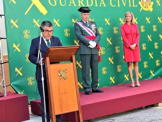 El delegado del Gobierno en el acto de la Guardia Civil del 12 de Octubre