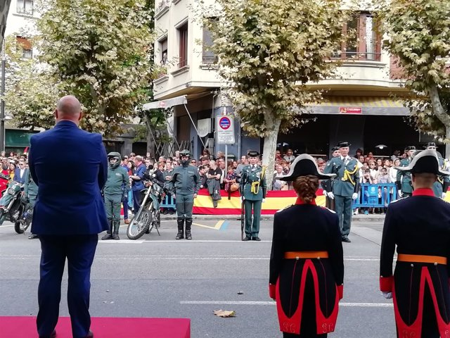 Acto de este mediodía en Pamplona.