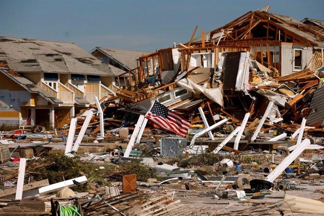 Daños provocados por el huracán 'Michael'