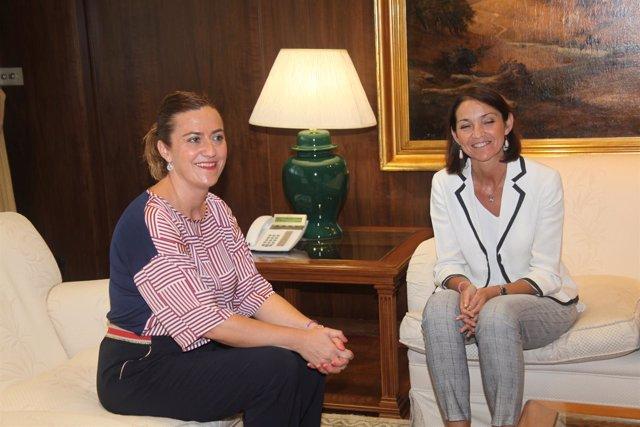 Madrid.- Reunión Reyes Maroto y Virginia Barcones